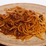 粗挽き肉と蓮根の和風ボロネーゼスパゲッティ_001