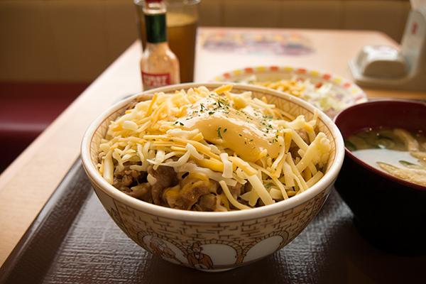 とろ〜り3種のチーズ牛丼1
