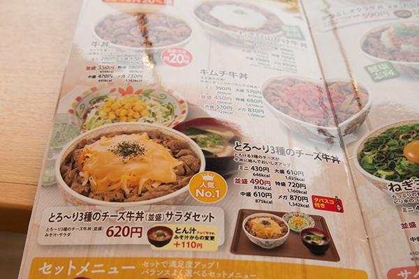 とろ〜り3種のチーズ牛丼2