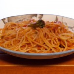 彩り野菜のトマトスパゲッティ1