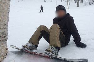 スノーボード 尻餅