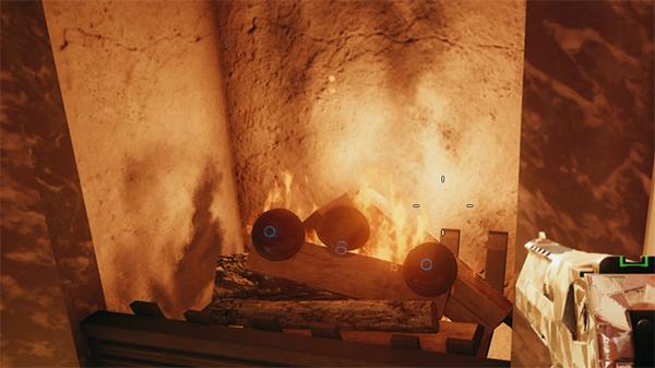 ブラックアイ 暖炉