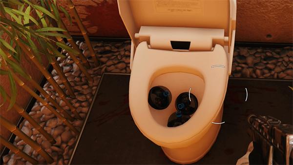ブラックアイ トイレ 3つ