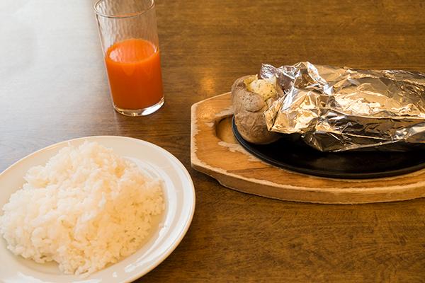 ココスの包み焼きハンバーグとライス