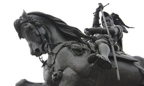 戦士の彫刻