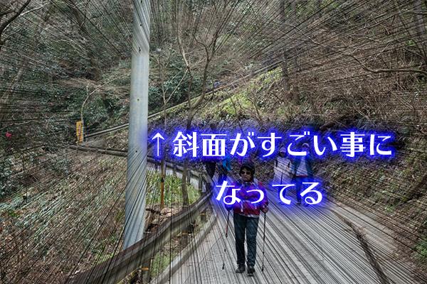 高尾山 すごい斜面