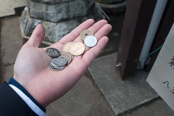 お賽銭 346円