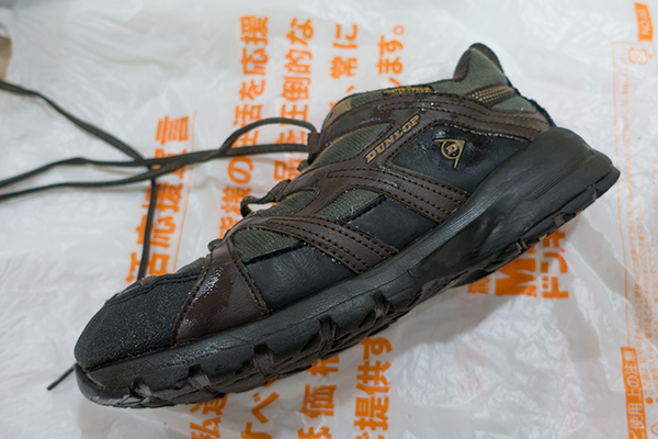 AQUA コイン式スニーカーウォッシャー MCW-W6C-5で洗った靴 横