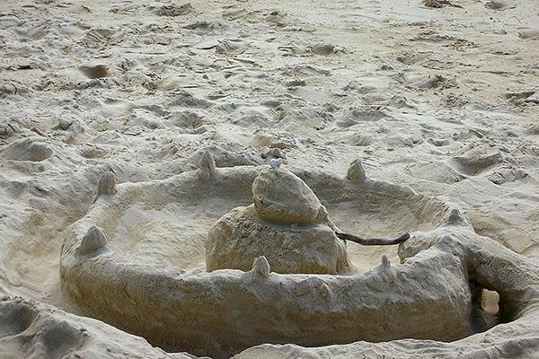 うんこっぽい砂のオブジェ